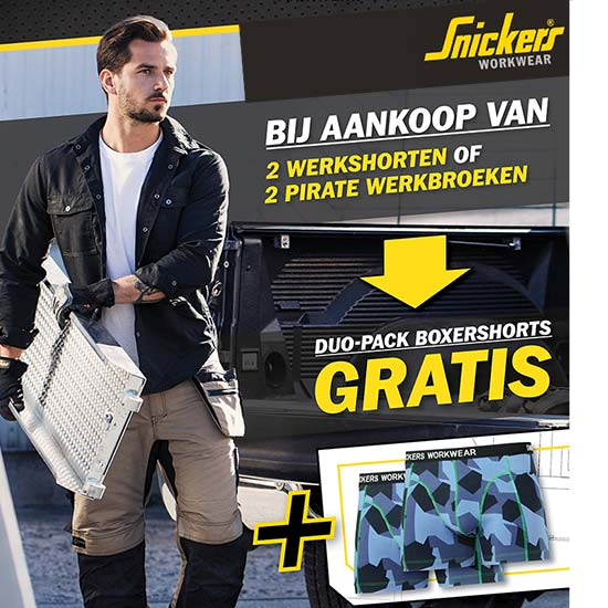Snickers gratis duo-pack boxershorts